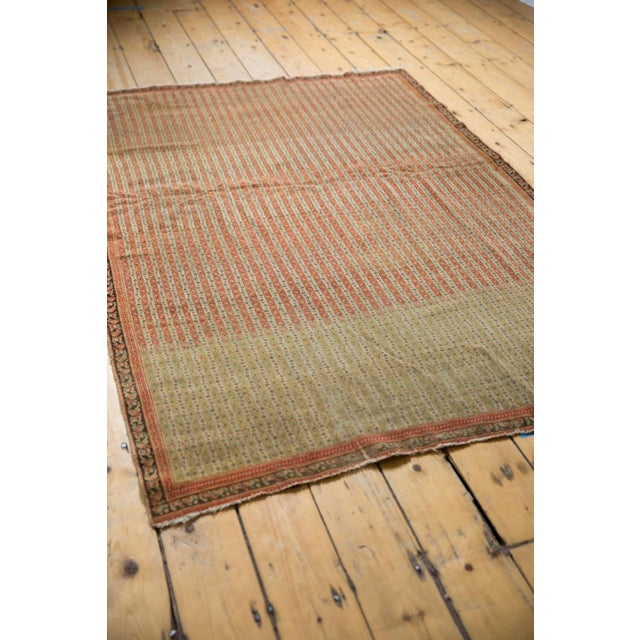 """Antique Fine Senneh Rug - 4'3"""" X 6'2"""" For Sale In New York - Image 6 of 13"""