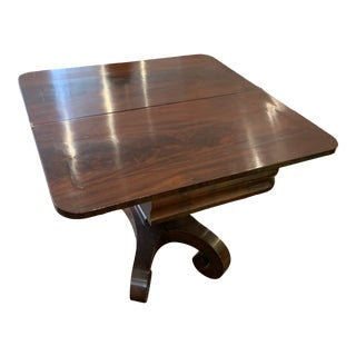 "1840s American Flame Mahogany Folding ""Card Table"" For Sale"