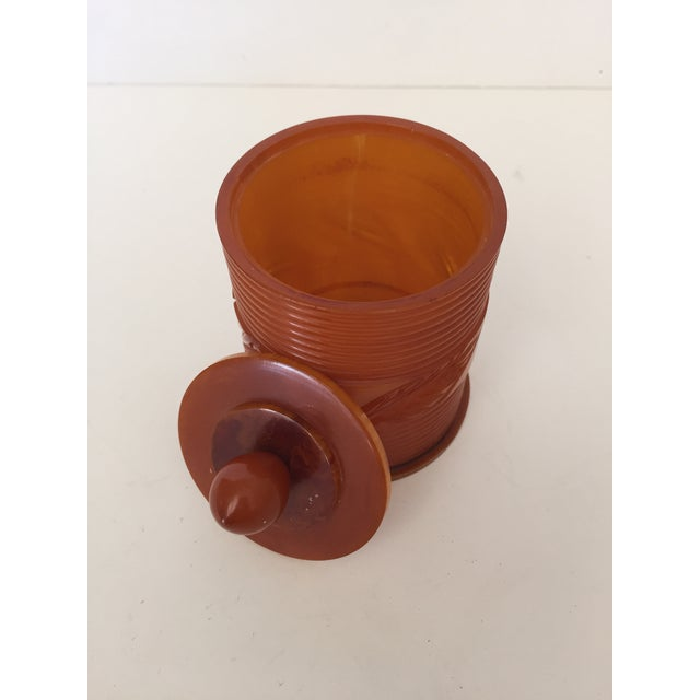 Cottage Toffee Toned Bakelite Box For Sale - Image 3 of 5