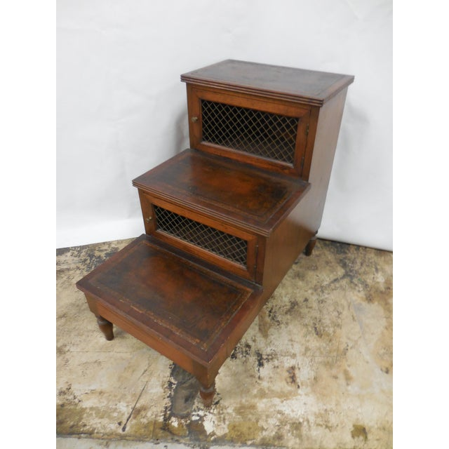 19th Century Mahogany Library Steps For Sale - Image 4 of 8