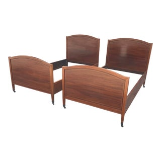 1940s Mahogany Twin Beds With String Inlay - a Pair For Sale