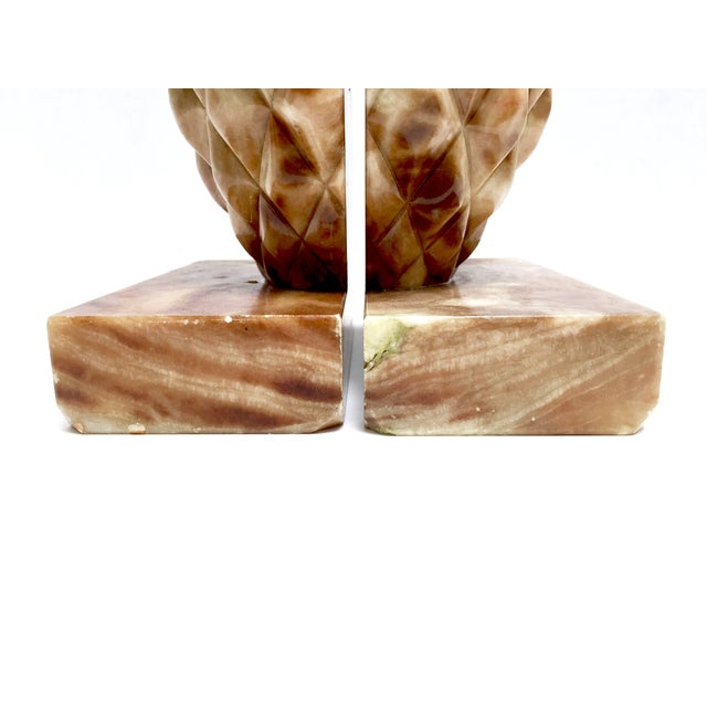 Onyx Stone Pineapple Bookends - Pair - Image 6 of 10