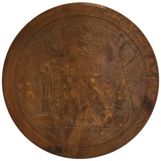 "19th Century Empire ""Fete Flamande"" Pressed Wood Snuff Box For Sale"