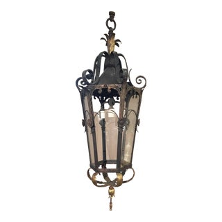 Monumental Electrified French Bronze Lanterns, Hanging or Wall-Mount For Sale