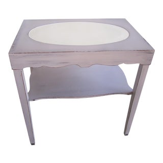 Vintage Cottage Accent Table For Sale