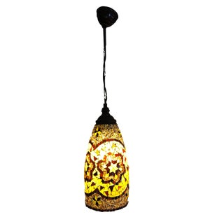 Turkish Mosaic Ceiling Lamp For Sale