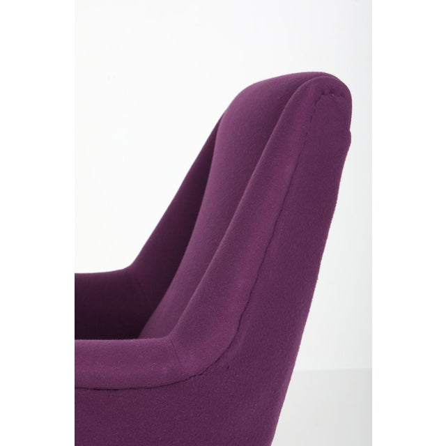 1950s Ico Parisi Easy Chairs With Purple Upholstery - a Pair For Sale - Image 10 of 12