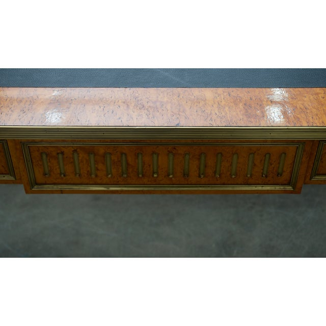 Metal Late 19 Century Russian Czarist Regency Library Table For Sale - Image 7 of 12