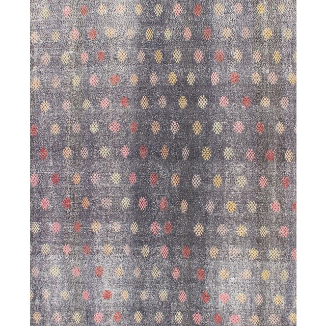 Keivan Woven Arts,TU-Emd-3426, Vintage Turkish Kilim Flat Weave Rug- 6′6″ × 9′3″ For Sale - Image 4 of 5