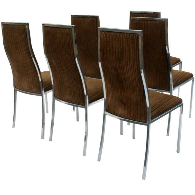 1970s Six Milo Baughman for Thayer Coggin Dining Chairs For Sale - Image 5 of 6