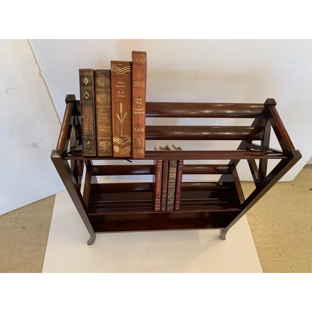 19th Century Mahogany & Satinwood Book Trough Shelving Unit For Sale - Image 12 of 13