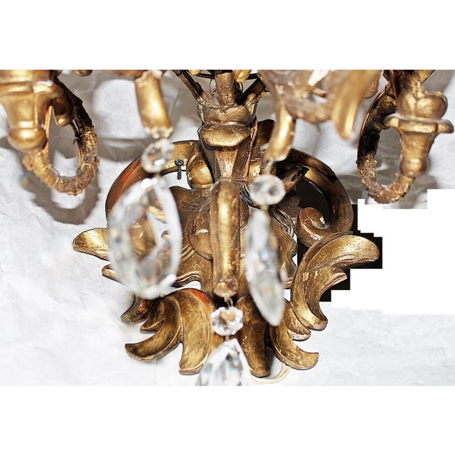 Italian Carved Sconces For Sale - Image 5 of 8