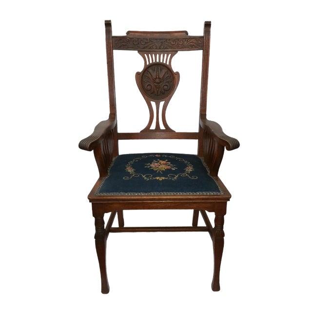 Victorian Irish Green Man Face Throne Chair - Image 1 of 9