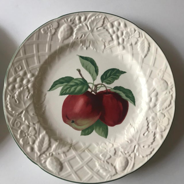 Cottage Late 20th Century Vintage Mikasa English Countryside Fruit Plates - A Pair For Sale - Image 3 of 10