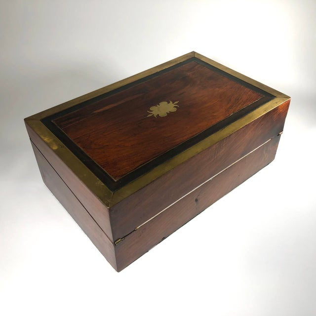 Mid 19th Century Mid 19th Century William IV Period English Rosewood & Ebony Writing Box For Sale - Image 5 of 6