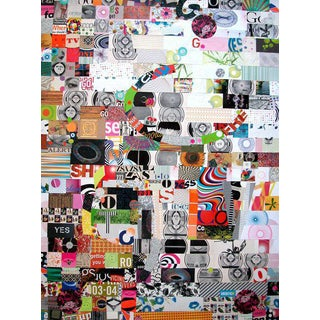 "Urso Colorful Contemporary Collage ""On Tv"" For Sale"