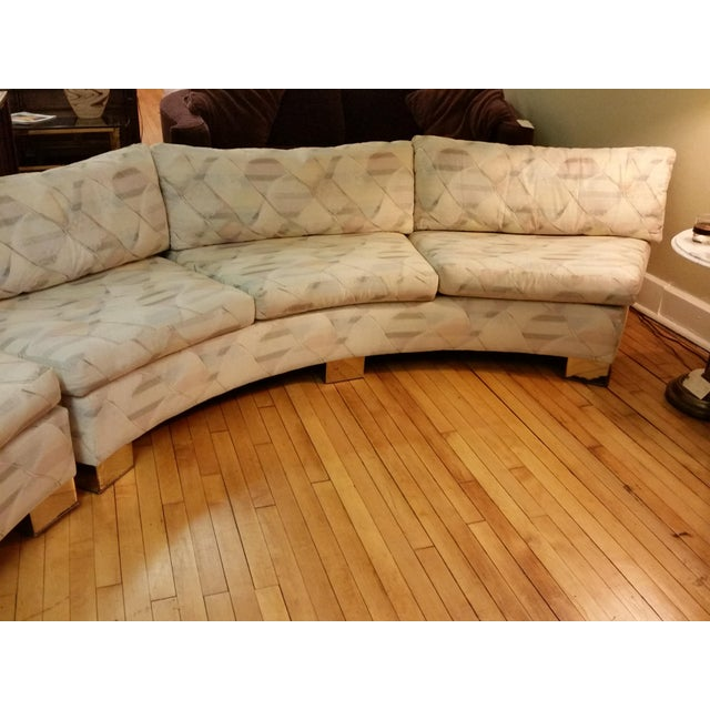 Hollywood Regency Milo Baughman for Thayer Coggin Custom Circle Sectional For Sale - Image 3 of 9