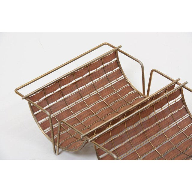 Rare Interlace Collection Set by Tony Paul for Woodlin-Hall in Brass and Walnut For Sale - Image 12 of 13