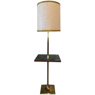 Georges Briard Midcentury Floor Lamp With Multicolored Mosaic Top For Sale