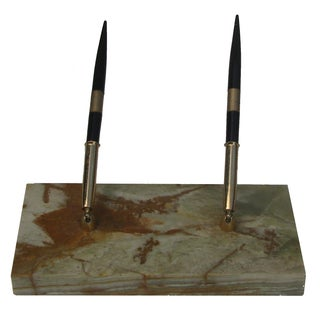 Mid-Century Onyx Desk Set For Sale
