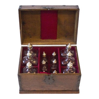 18th Century English Maritime Liquor Chest For Sale