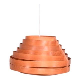 Scandinavian Hanging Lamp Teak and Pine Mid-Century Modern For Sale