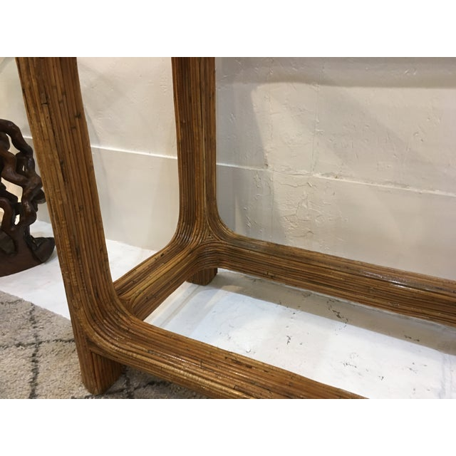Wood Gabriella Crespi Style Split Reed Console For Sale - Image 7 of 9