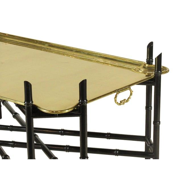 Brass 1960s Regency Style Brass Tea Table For Sale - Image 8 of 11