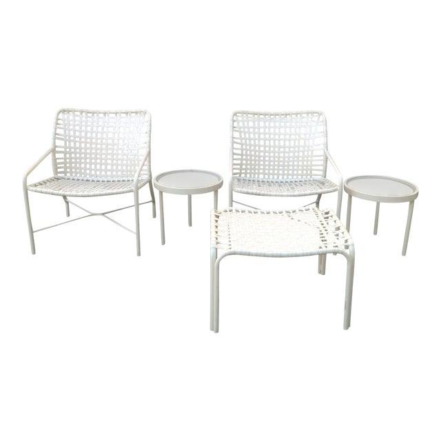 Remarkable Vintage Mid Century Tropitone Strap Patio Set 5 Pieces Ibusinesslaw Wood Chair Design Ideas Ibusinesslaworg