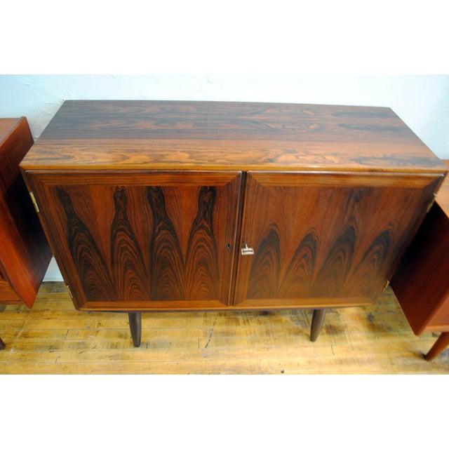 Danish Modern Rosewood 2 Door Cabinet - Image 3 of 10