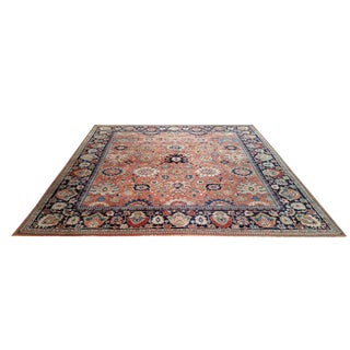 Antique Persian Sarouk Fereghan Hand Made Knotted Rug - 8′3″ × 9′ - Size Cat. 8x10 9x9