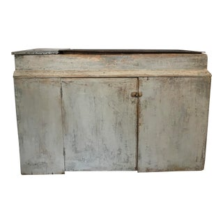 1960s Vintage Old American Farm Sink Cabinet For Sale