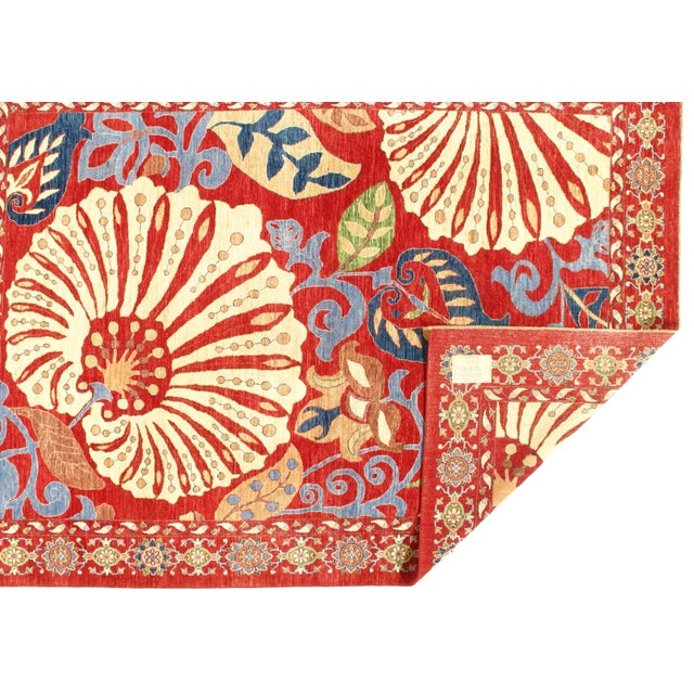 "Pasargad N Y Genuine Suzani Design Wool Rug - 8'1"" X 11'3"" For Sale - Image 4 of 5"