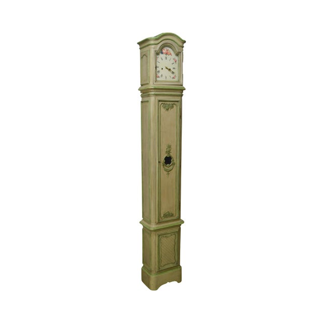 18th Century French Louis XV Period Hand Painted Long Case Clock For Sale - Image 13 of 13