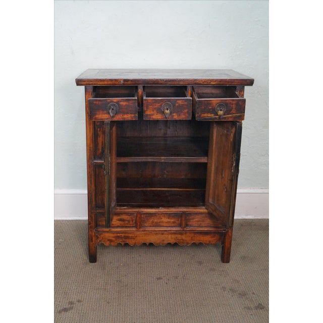 Rustic Chinese Console with Drawers - Image 9 of 10