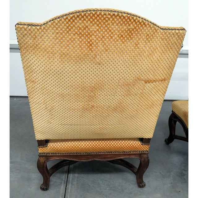 Early 20th Century Pair of Country French Arm Chairs For Sale - Image 5 of 8