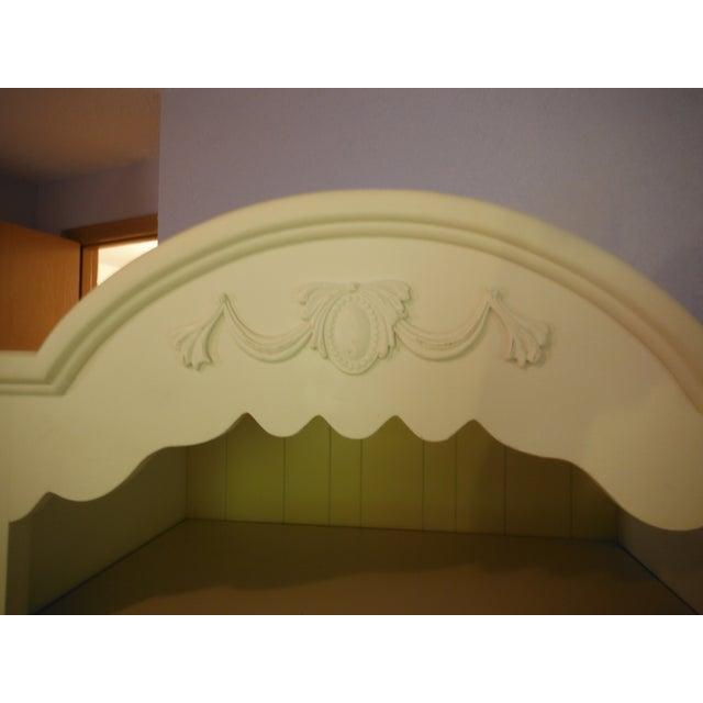 Two Tone Carved and Painted Entertainment Center - Image 3 of 6