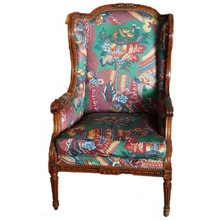 "Vintage French ""Bergere A Oreilles"" Accent Chair For Sale"