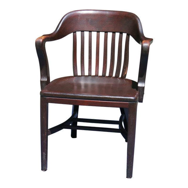 1920s Antique Bankers Chair For Sale
