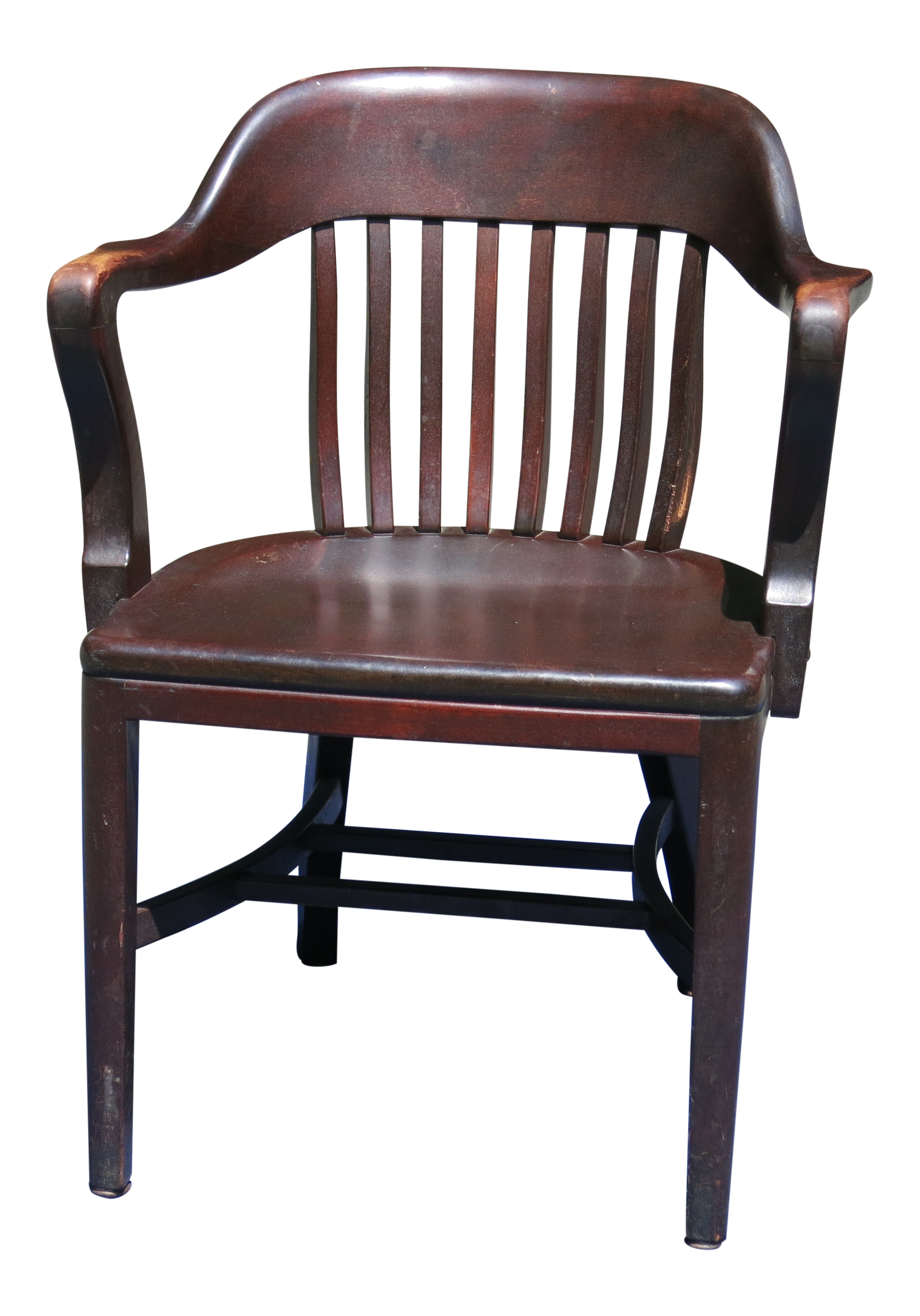 1920s Antique Bankers Chair