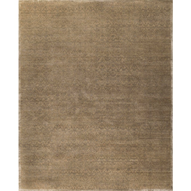 2010s Stark Studio Rugs Contemporary Oriental Wool and Bamboo Silk Rug - 12' X 15' For Sale - Image 5 of 5