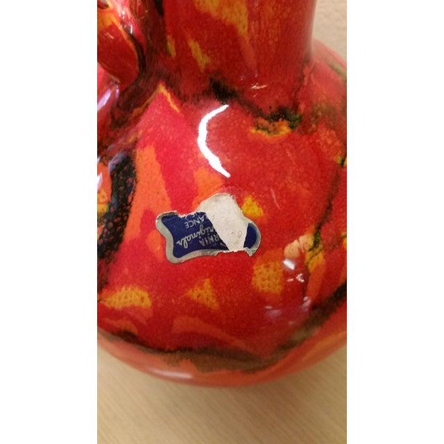 California Originals Ceramic Flame Glaze Vase For Sale - Image 5 of 8