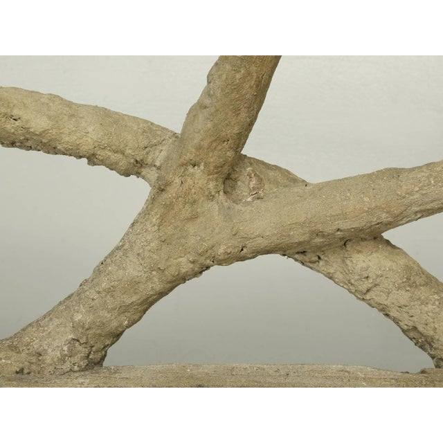 Concrete Antique French Faux Bois or Concrete Bench Attributed to Edouard Redont For Sale - Image 7 of 10