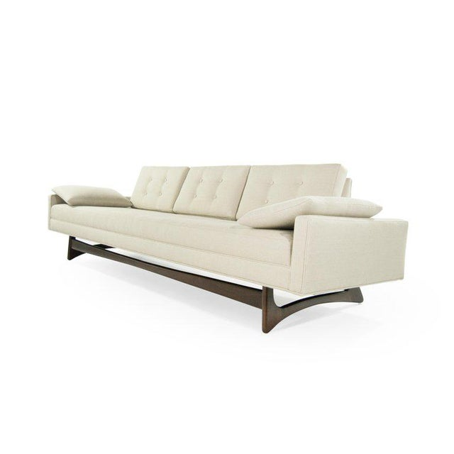 Adrian Pearsall for Craft Associates sofa in excellent, fully restored condition. It boasts handcut high grade foam....