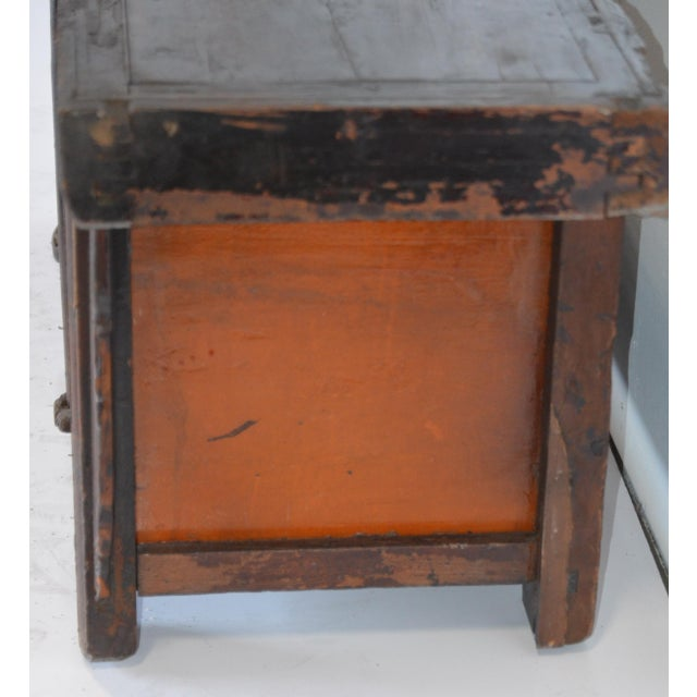 Asian Vintage Rustic Chinese Low Media Cabinet For Sale - Image 3 of 10