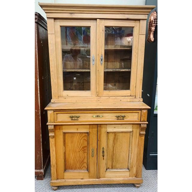 1880\'s Honey Pine Kitchen Cabinet