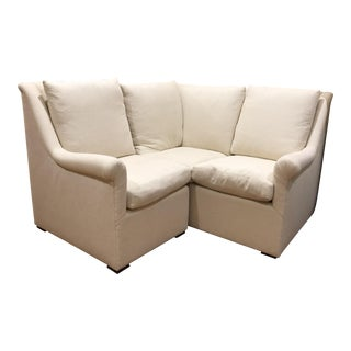 Modern Coastal Sectional Sofa- 4 Pieces For Sale