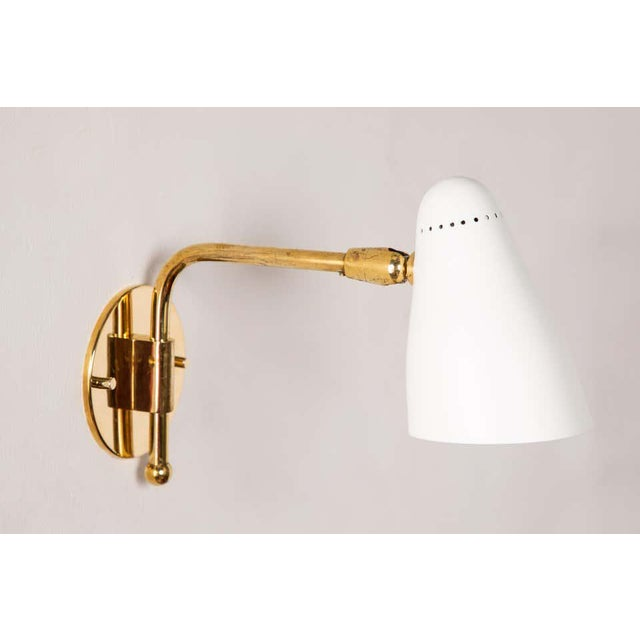 1950s Giuseppe Ostuni Articulating Arm Sconces for O-Luce - a Pair For Sale In Los Angeles - Image 6 of 13