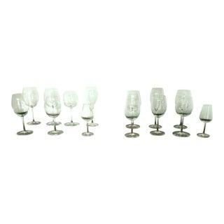 Baccarat 7 Piece Wine & Cordial Glass Sets - 14 Pc. Set For Sale