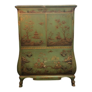 1950s Vintage Chinoiserie Style Armoire For Sale